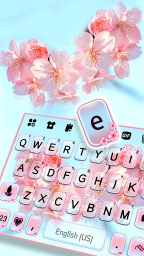 Sakura Flower Keyboard Background screenshot 2