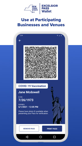 NYS Excelsior Pass Wallet screenshot 2
