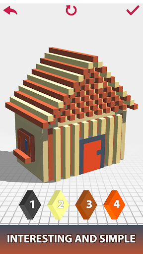 House Voxel Paint by Number screenshot 6