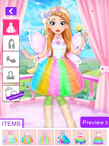 Unicorn Fashion Dress Up Makeover screenshot 2