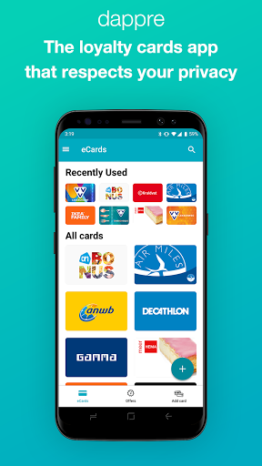 Dappre - Loyalty cards, giftcards and more! screenshot 1