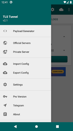 Tunnel TLS - VPN Gratuita e Illimitata screenshot 3