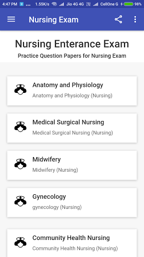 Staff Nurse Exam screenshot 2
