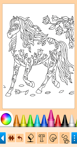 Coloring game for girls and women screenshot 16