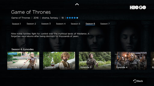 HBO GO - Android TV screenshot 2