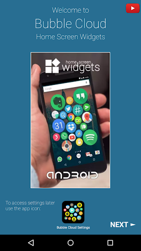 Bubble Cloud Widgets + Folders for phones/tablets screenshot 9