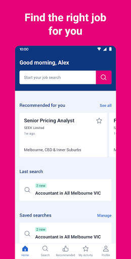 SEEK Job Search screenshot 1