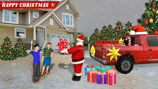 Santa Claus Car Driving 3d - New Christmas Games screenshot 1