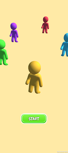 Color Man 3D Race Run screenshot 1