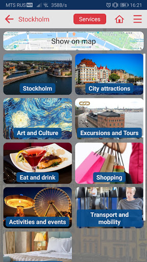 Stockholm city guide screenshot 2