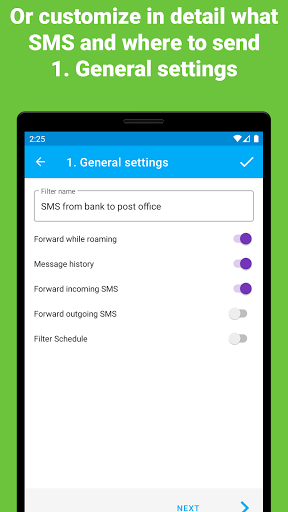 Automatically forward SMS to your PC/phone screenshot 3