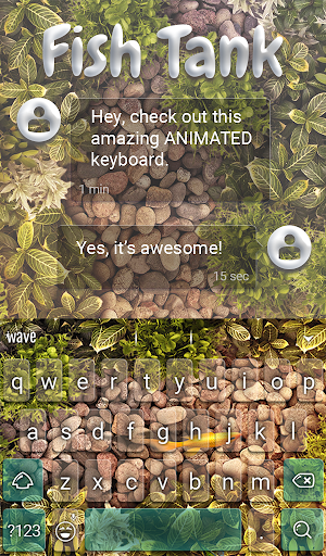 Fish Tank Animated Keyboard + Live Wallpaper screenshot 2