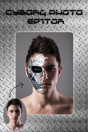 Cyborg Face Camera Photo Editor screenshot 1