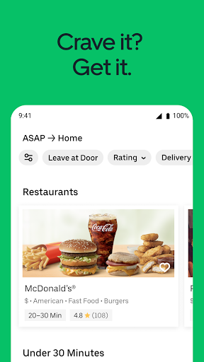 Uber Eats: Food Delivery screenshot 1