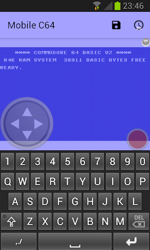Mobile C64 screenshot 1