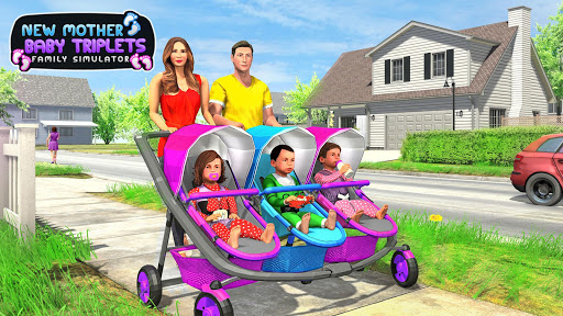 New Mother Baby Triplets Family Simulator screenshot 11