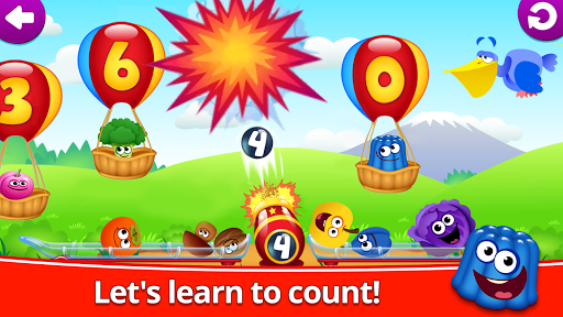 Funny Food 123! Kids Number Games for Toddlers screenshot 2