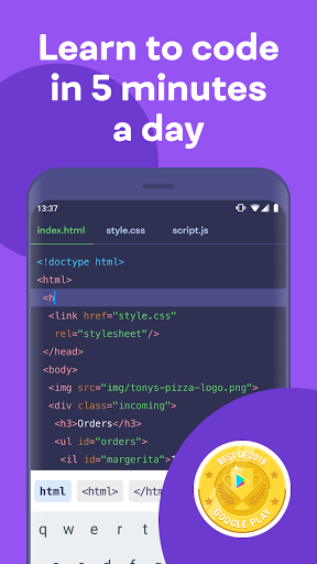 Mimo: Learn to code in HTML, JavaScript, Python screenshot 1