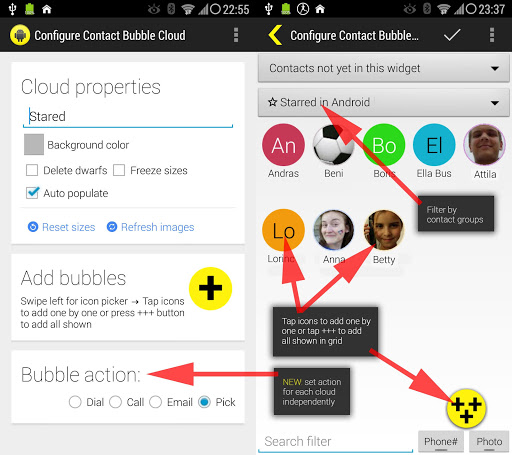 Bubble Cloud Widgets + Folders for phones/tablets screenshot 20