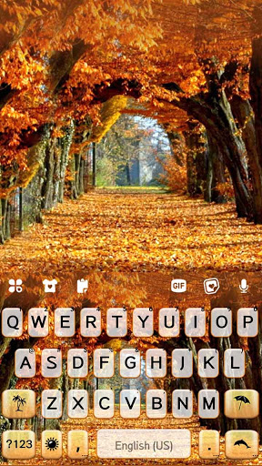 Autumn Trees Keyboard Background screenshot 5