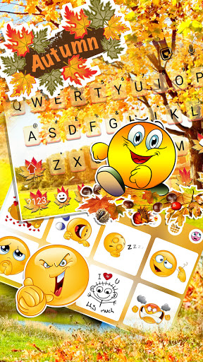 Autumn Nature Keyboard Background screenshot 3