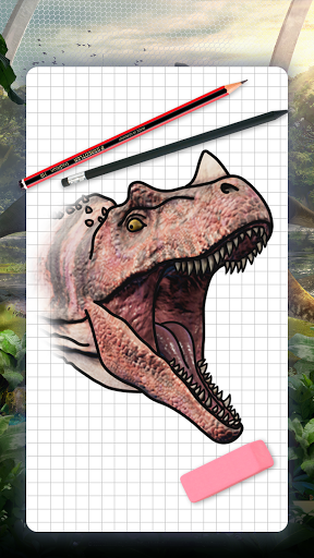 How to draw dinosaurs. Step by step lessons screenshot 1
