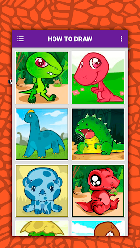 How to draw cute dinosaurs step by step, lessons screenshot 4