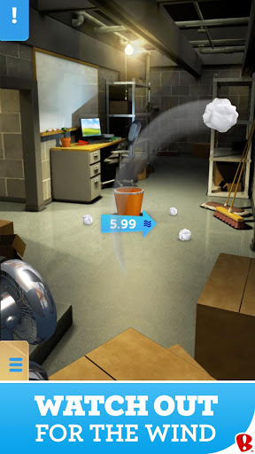 Paper Toss 3D screenshot 2