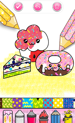Cupcakes Coloring Book Pattern screenshot 13