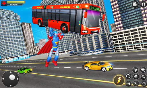 Flying Hero Robot Transform Car screenshot 4