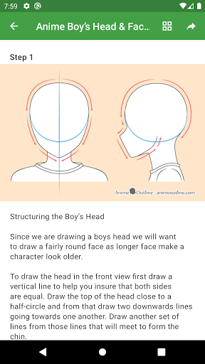 How to draw anime step by step screenshot 5