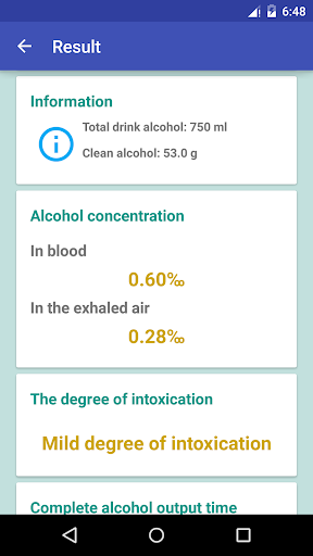 How much alcohol to drink? screenshot 5