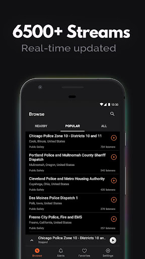 Police Scanner, Fire and Police Radio screenshot 2