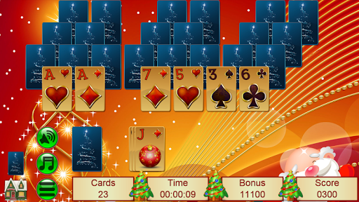 Xmas TriPeaks, card solitaire, tournament edition screenshot 4