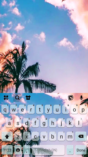 Palm Tree Sky Tema Tastiera screenshot 5