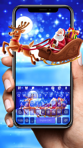 Santa Christmas Keyboard Background screenshot 1