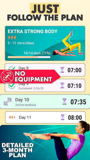 Pilates workout routine-Fitness exercises at home screenshot 1
