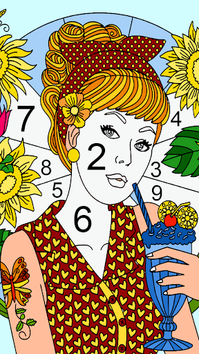 Color by number - color by number for adults screenshot 7