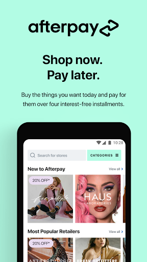 Afterpay: Buy now, pay later. Easy online shopping screenshot 1