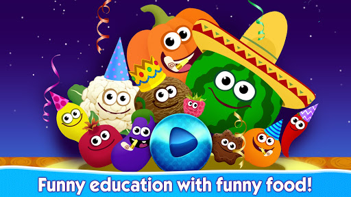 Funny Food educational games for kids toddlers 屏幕截图 5