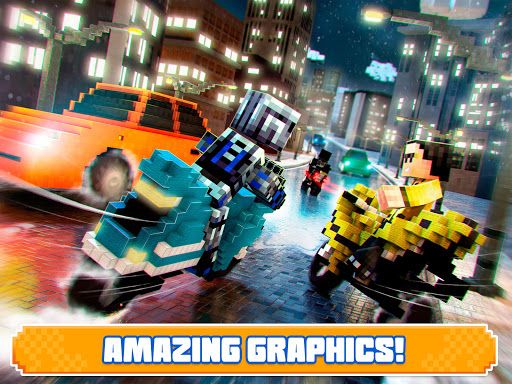 Blocky Superbikes Race Game - Motorcycle Challenge 屏幕截图 8