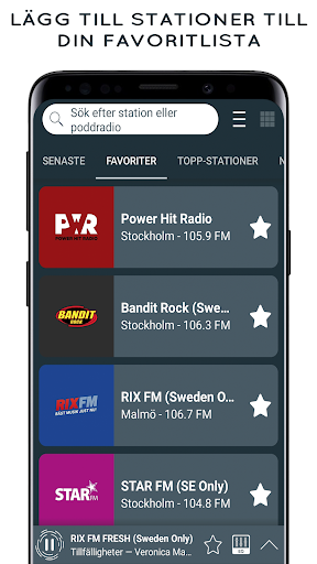 Radio Sverige - Online Radio and FM Radio screenshot 3