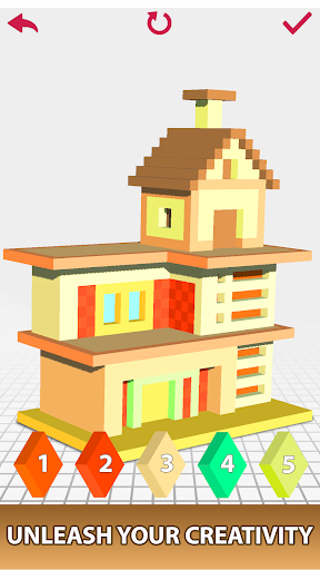 House Voxel Paint by Number screenshot 4