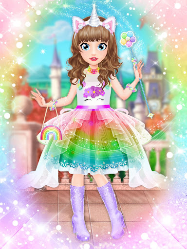 Unicorn Fashion Dress Up Makeover screenshot 6