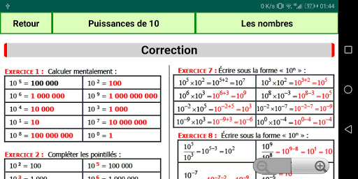 Maths Seconde screenshot 8