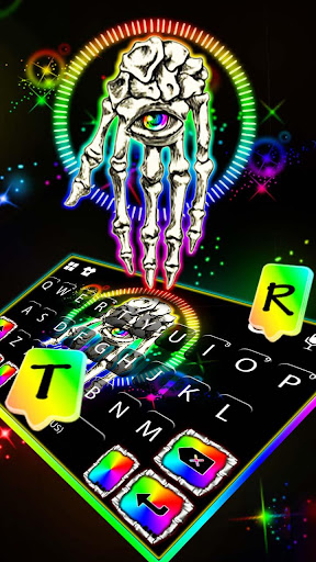 Skeleton Eye Keyboard Theme screenshot 2