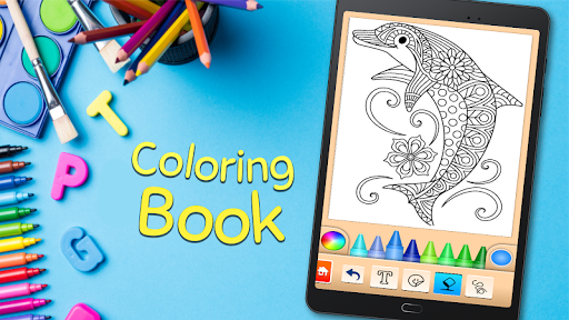 Coloring game for girls and women screenshot 5