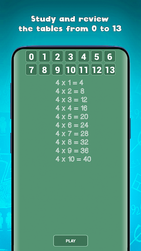 Free multiplication tables games (times tables) screenshot 2
