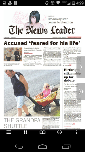 The News Leader Print Edition screenshot 1