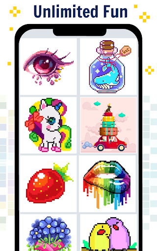 Pixel Art Color by number screenshot 2